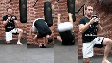 Stuntman Kettlebell Workout: Kettlebell Front Rolls
