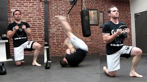 Stuntman Kettlebell Workout: Kettlebell Shoulder Roll