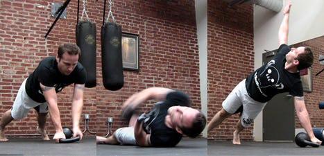 Stuntman Kettlebell Workout: Kettlebell Body Twists to Side Rolls