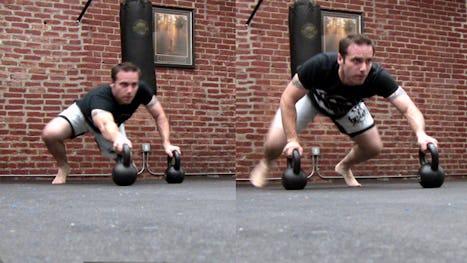 Stuntman Kettlebell Workout: Spider Crawls