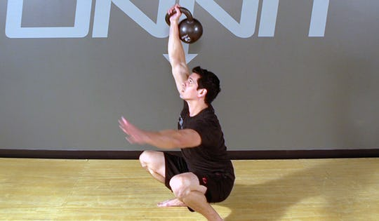 Kettlebell Squat Get Up Exercise