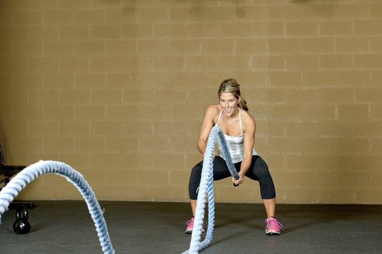 Battle Ropes kettlebell seesaw unconventional finisher