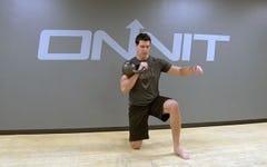 Split Stance Power Kettlebell Workout
