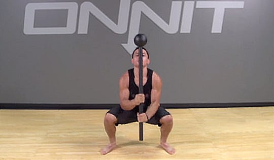Steel Mace Barbarian Squat Exercise