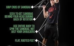 How to perform the Sandbag Spin with proper form.