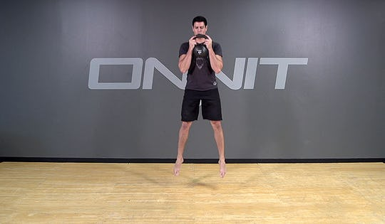 Kettlebell Exercise: Jump Squat
