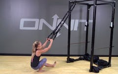 Battle Ring Suspension Trainer Assisted Pistol Squat