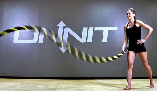 Fat Burning Battle Ropes HIIT Workout