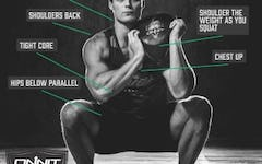 Form at a Glance: How to do the Steel Bell Shouldering Squat