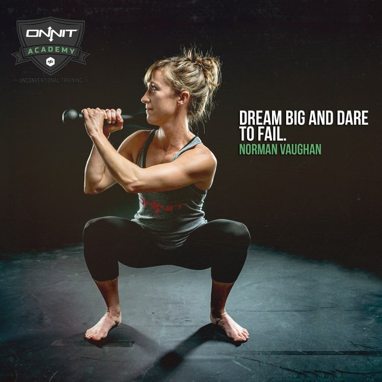 Workout Motivation: Dream Big and Dare to Fail