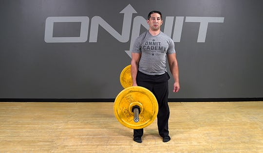 Barbell Exercise: 1-Arm Suitcase Deadlift