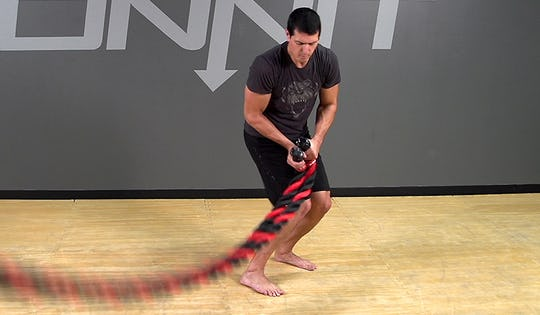 Battle Rope Exercise: Double Circular Pull Wave
