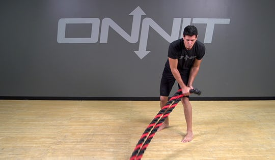 Battle Rope Exercise: Hip Toss