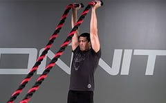 Battle Rope: Double Overhead Press