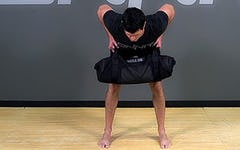 Sandbag Exercise: Bent Over Row