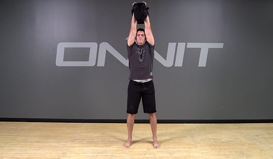 Sandbag Shoulder to Shoulder Press