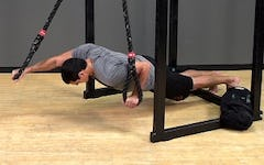 Suspension Exercise: Overhead Extended Push Up