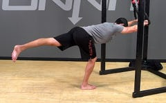 Suspension Exercise: Assisted Single Leg Hinge