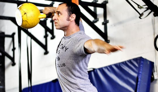 Shawn Mozen performs the kettlebell high pull. A great movement for MMA Fighters