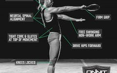 Form at a Glance: 1-Hand Steel Club Swing Exercise