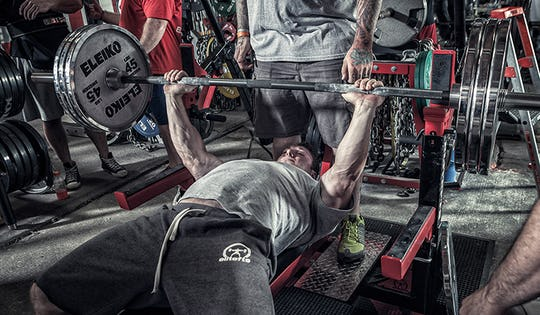 Casey Williams Practicing the Bench Press