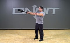 Steel Club Exercise: 1-Hand Outside Swing