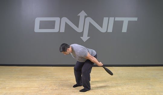 Steel Club Exercise: 1-Hand Outside Clean Swing