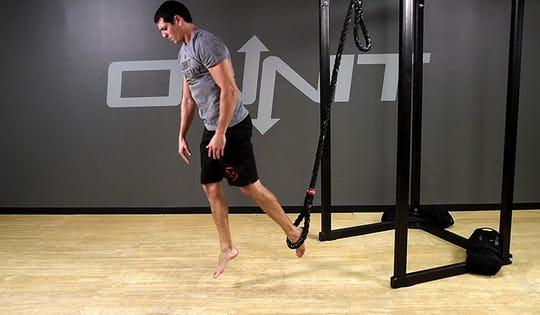 Suspension Exercise: 1-Leg Burpee