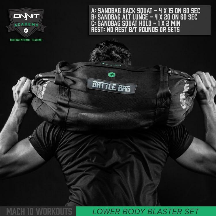 Sandbag Lower Body Blaster 10 Minute Workout