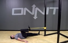 Band Resisted Lying Hip Flexion Bodyweight Exercise