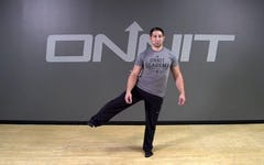 Standing Lateral Leg Lift Hold Bodyweight Exercise