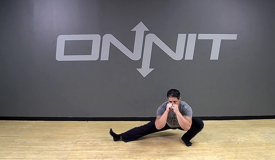 Alternating Cossack Squat Bodyweight Exercise
