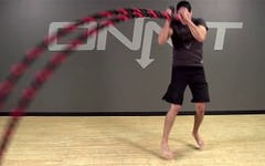 Diagonal Pull Jump Switch Battle Ropes Exercise