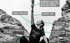Form at a Glance: Overhead Torch Squat