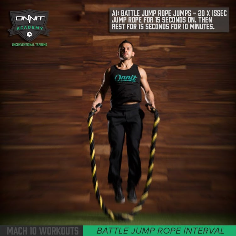 Mach 10 Battle Rope Jump Rope Workout