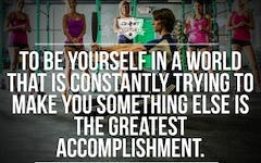 Workout Motivation: To Be Yourself