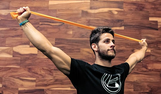 Resistance band exercises for increased mobility