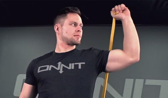 Resistance Band Exercise #2: 1-Hand Internal Rotation