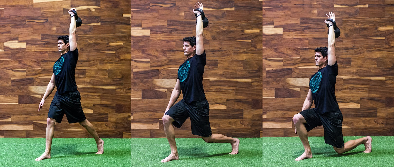 How to Perform the 1-Arm Overhead Lunge