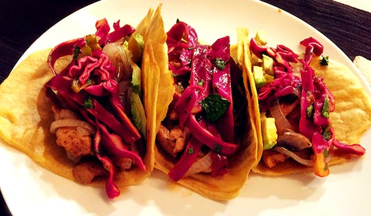 Plantain Tortillas with Spicy Cabbage Slaw