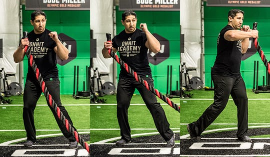 Advanced Move of the Week: Battle Rope 1-Arm Hook