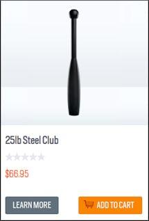 Onnit 25 lb. Steel Club