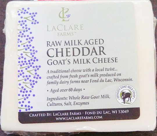 Raw goat cheese