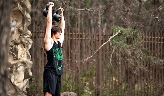 #1. Kettlebell Double Clean & Press