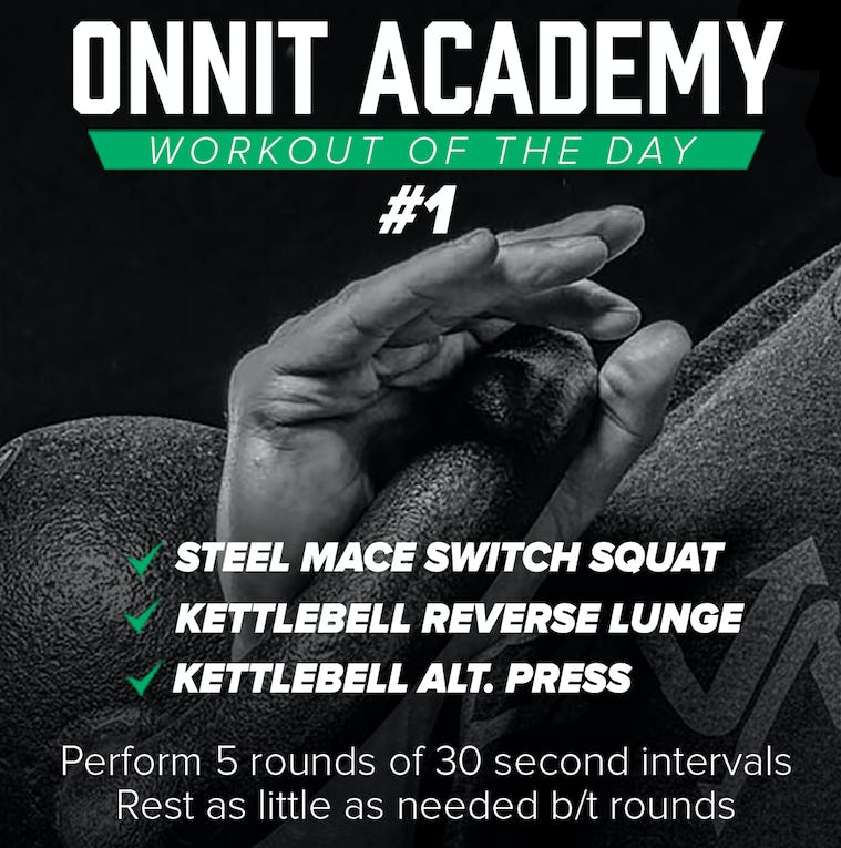 Onnit Academy Workout of The Day: #1 - 10.26.15