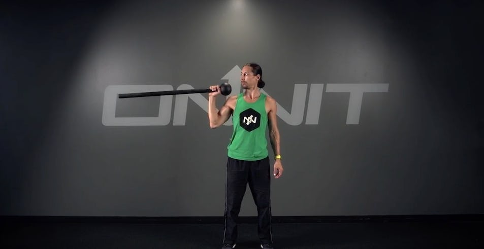 Rotating Spear Press Steel Mace Exercise