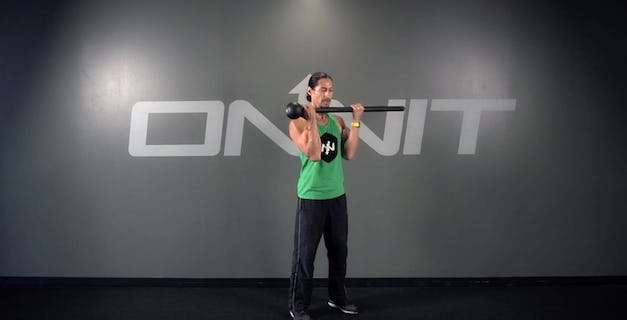 Even Curl to Outward Rotation Steel Mace Exercise