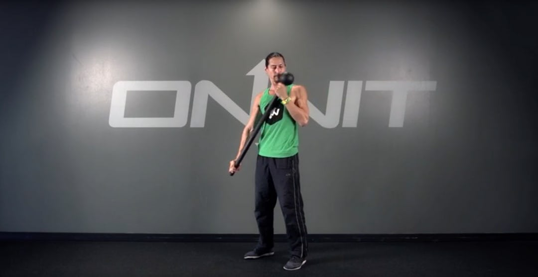 Extended Shoulder Curl Steel Mace Exercise
