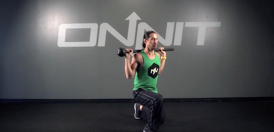 Back Shoulder Forward Lunge Steel Mace Exercise