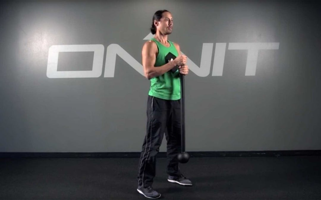 Climber Squat Steel Mace Exercise